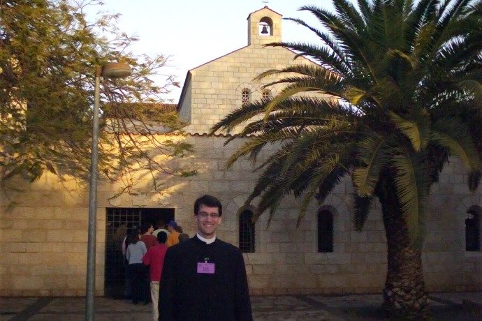 Your unworthy servant at the Church of the Multiplication of the Loaves on the Sea of Galilee