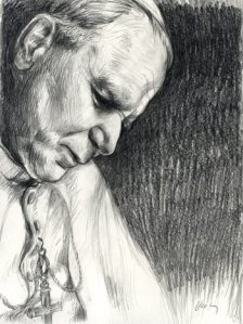 john_paul_ii_pencil_drawing