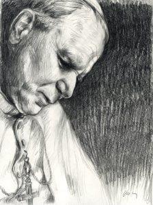 john_paul_ii_pencil_drawing