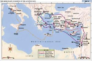 St. Paul's Apostolic journeys