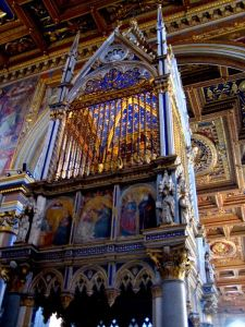 The Baldacino over the High Altar, containing the heads of Sts. Peter and Paul