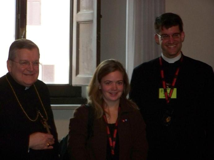 With Archbishop Burke