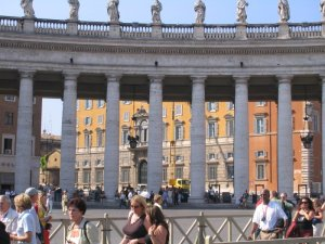 The Holy Office, seen through the colonnade of St. Peter's Square