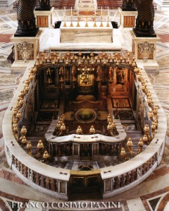 St. Peter's tomb, under the High Altar of the Basilica
