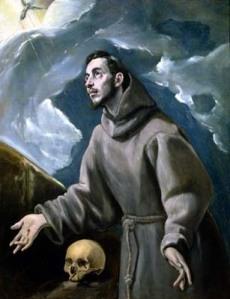 St Francis Receiving the Stigmata by El Greco