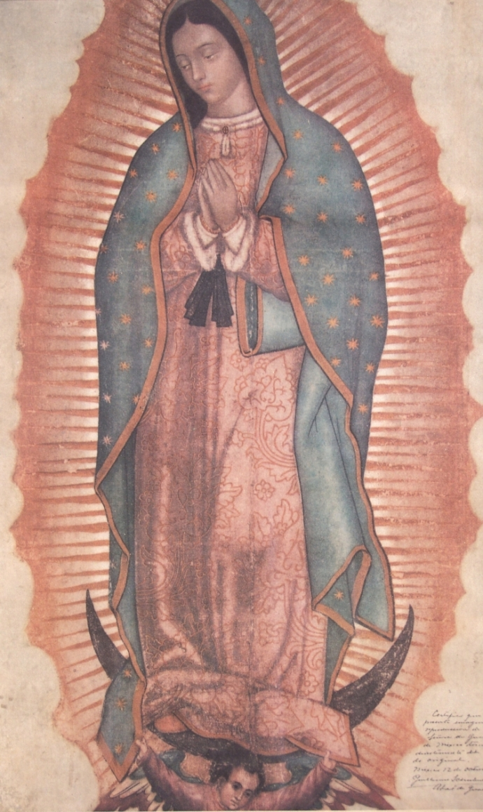 The image our Lady left on St. Juan Diego's cloak