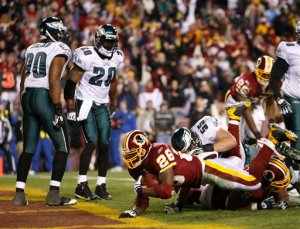 Portis & Co. salvaged some dignity by beating the Iggles 10-3 in their swan song at FedEx Field