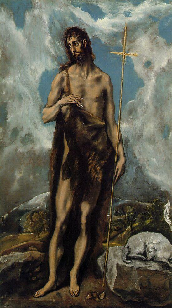 St. John the Baptist - El Greco dans immagini sacre st-john-baptist-greco