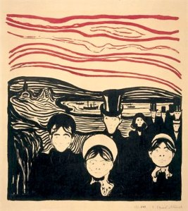 Angst by Edvard Munch