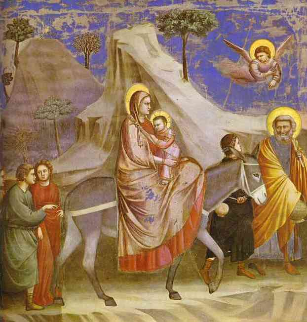 Flight Into Egypt by Giotto