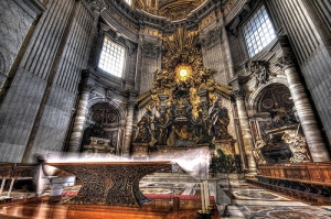 Altar of the Chair in the apse of St. Peter's