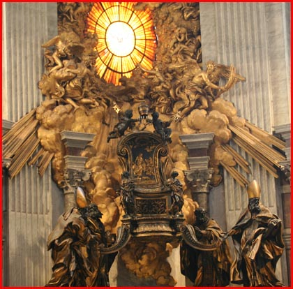 Reliquary of the Chair of Peter in the Vatican Basilica