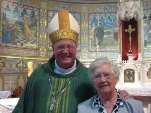 Archbishop Dolan with his second-grade teacher