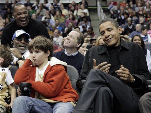 APTOPIX Obama Bulls Wizards Basketball