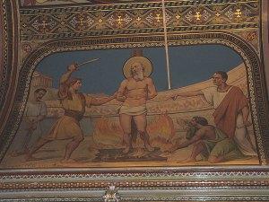 Painting of St. Polycarp in his shrine in Izmir, Turkey