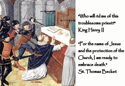 St. Thomas a Becket holy card