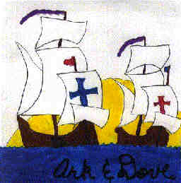 The Ark and the Dove carried the first Catholics to the English colonies.  First Mass?  March 25