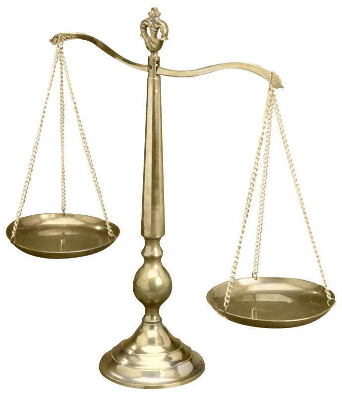 Scales are the symbol of justice