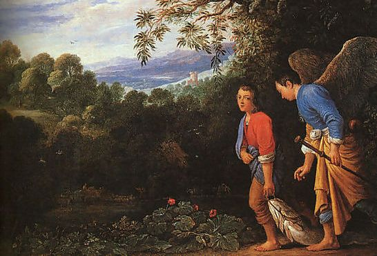 Tobias and the Archangel Raphael, from the book of Tobit