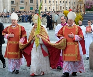 VATICAN POPE palm sunday