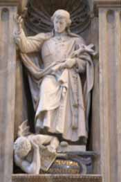 Statue of St. Louis de Montfort in St. Peter's