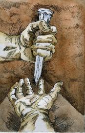 crucified hand