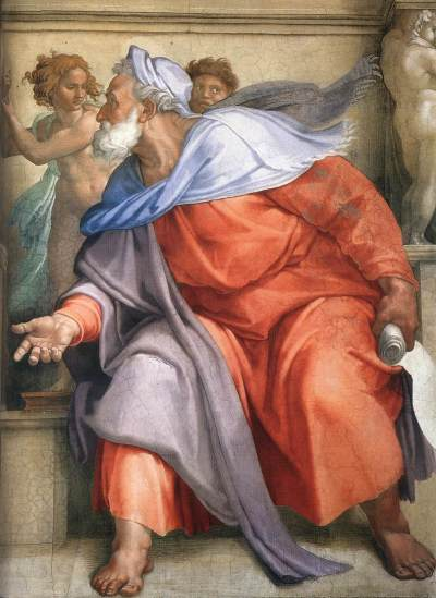 Prophet Ezekiel's portrait in the Sistine Chapel