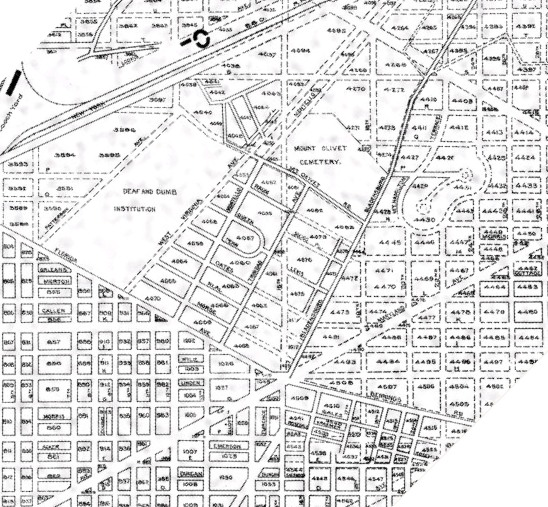 Old map--does not include National Arboretum