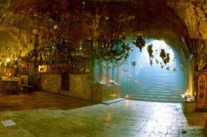 The place in Jerusalem from which the Blessed Mother was assumed into heaven