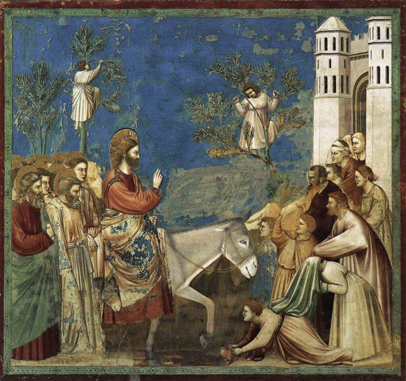 giotto palm sunday entry