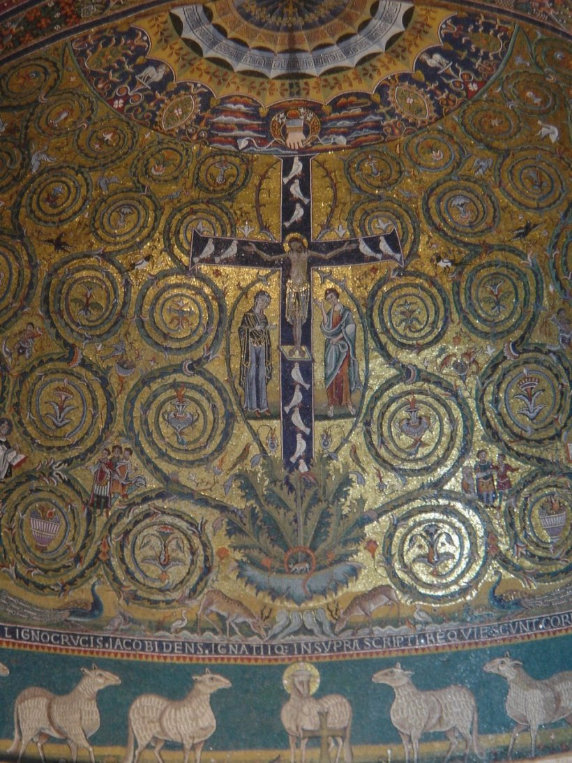 The apse mosaic of San Clemente