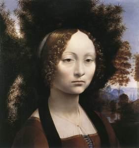 Ginevra de Benci by Leonardo da V