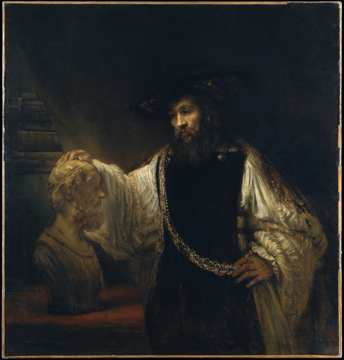 'Aristotle with a Bust of Homer' by Rembrandt