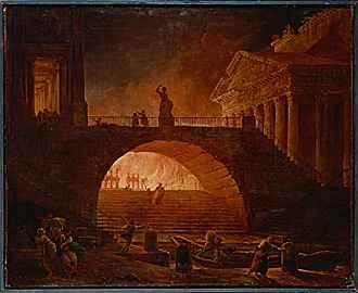 The Burning of Rome by Robert Hubert