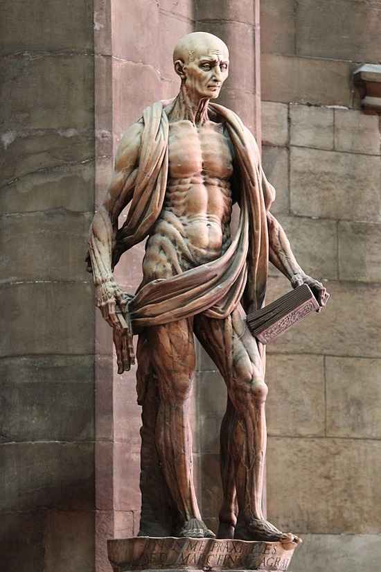 Statue of St. Bartholomew in Milan Cathedral