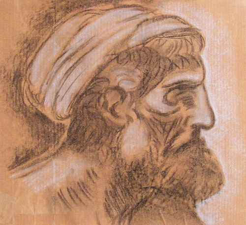 Head of a Pharisee by Leonardo da Vinci