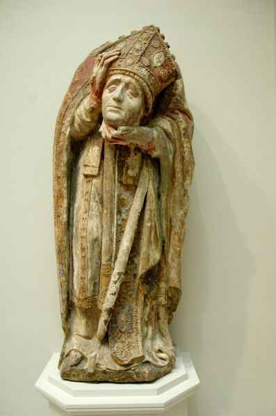 Stunning statue of St. Denis in Virginia Museum of Fine Art