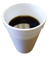 styrofoam cup coffee