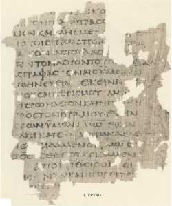mark gospel manuscript fragment
