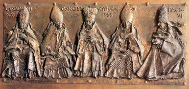 Vatican II bas relief