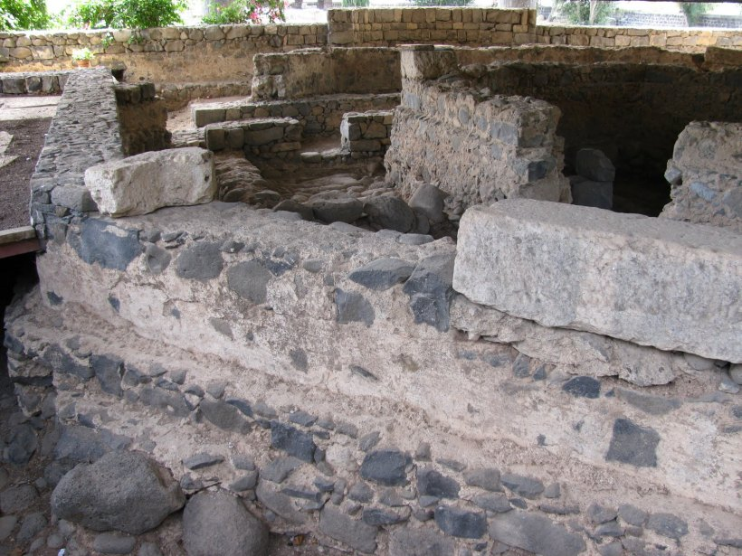 excavation of house in Capernaum