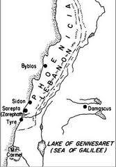 map Phoenicia Zarephath