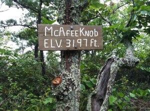 mcafee knob sign