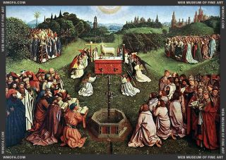 Ghent Altarpiece Adoration of the Lamb
