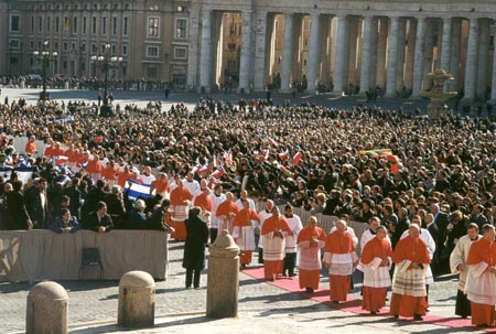 Consistory for the Chair of Peter, 2001.  Holy Father and me are both in the picture.