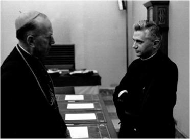 Card. Frings and Joseph Ratzinger