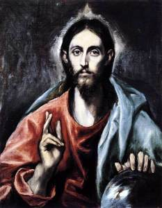 Christ blessing Savior World el Greco