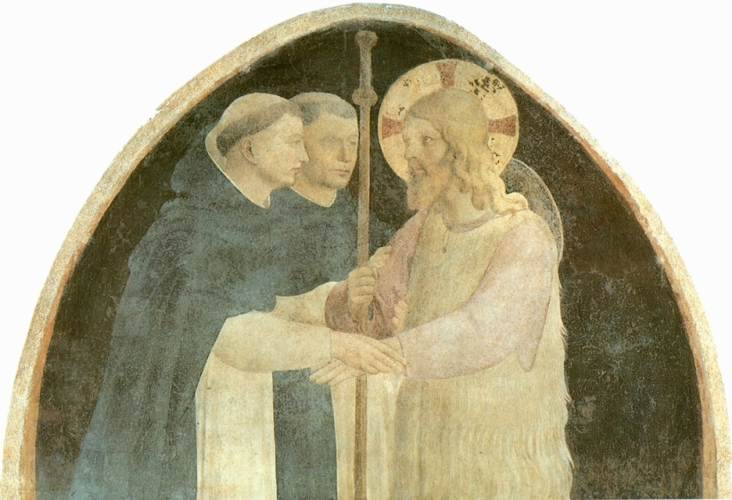 Angelico_Fra_2010-Christ_as_Pilgrim_is_Received_by_Two_Dominicans Fra Angelico