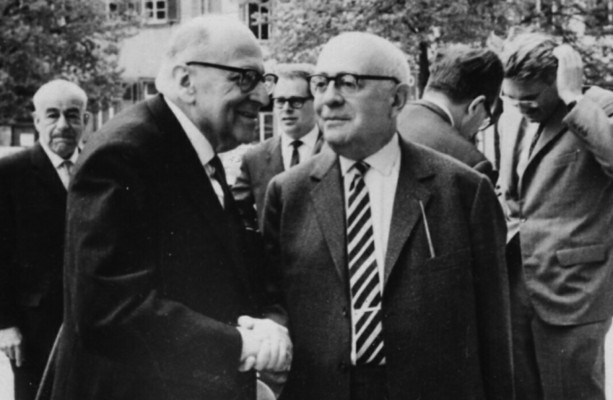 Frankfurt Schoolers Horkheimer and Adorno