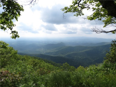 view from Blue Ridge Pkwy cloth